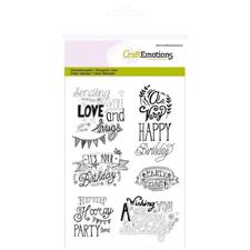 CraftEmotions Clear Stamp Set - Birthday Handlettering
