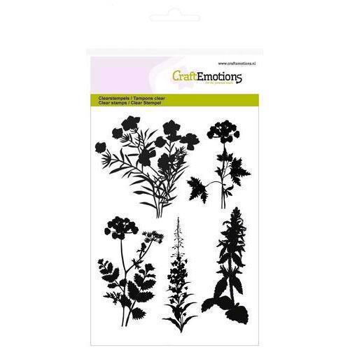 CraftEmotions Clear Stamp Set - Silhouette Roadside Plants