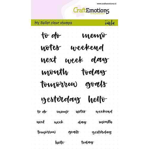 CraftEmotions Clear Stamp Set - Bullet Journal / Text Agenda