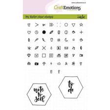 CraftEmotions Clear Stamp Set - Bullet Journal / Signs 5mm