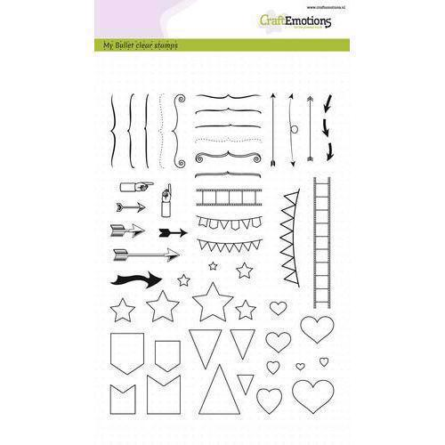 CraftEmotions Clear Stamp Set - Bullet Journal / Signs Big