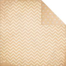Double Dot CHEVRON Cardstock - Chiffon