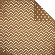 Double Dot CHEVRON Cardstock - Decaf