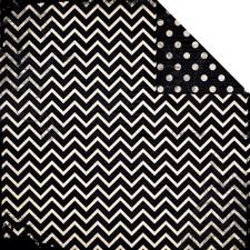 Double Dot CHEVRON Cardstock - Licorice
