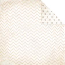Double Dot CHEVRON Cardstock - Sugar
