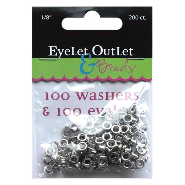 "Eye-Lets & Washers 1/8"" - Silver"