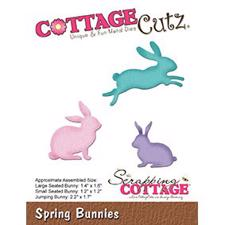 Cottage Cutz  Die - Spring Bunnies