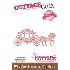 Cottage Cutz  Die - Wedding Horse & Carriage