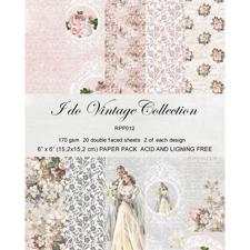 "RePrint Scrapbooking Paper pack 6x6"" - I Do Vintage Collection"