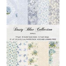 "RePrint Scrapbooking Paper pack 6x6"" - Dusty Blue Collection"