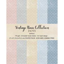"RePrint Scrapbooking Paper pack 6x6"" - Basic Collection Pastel Dots"