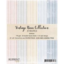 "RePrint Scrapbooking Paper pack 6x6"" - Basic Collection Pastel Lines"