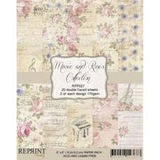 "RePrint Scrapbooking Paper pack 6x6"" - Music and Roses"