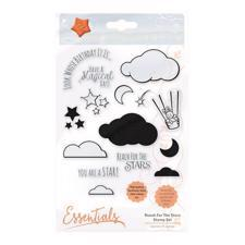 Tonic Studios Clear Stamp Set - Reach for the Stars (shaker set)