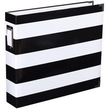 "Project Life Album 12x12"" - Black & White Stripe"