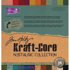 "ColorCore Cardstock Set 12x12"" - Tim Holtz Kraft Core Nostalgic Collection"