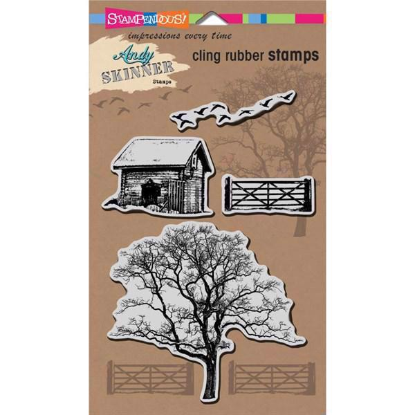 Stampendous Cling Stamp Set - Andy Skinner / Nature