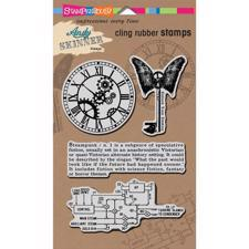 Stampendous Cling Stamp Set - Andy Skinner / Steampunk