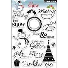 Clear Stamp Set - Penny Black / Let it Snow