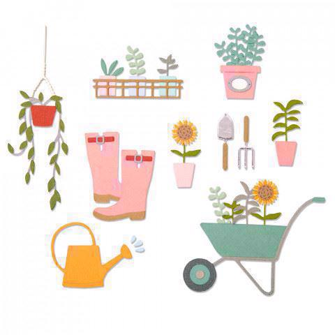 Sizzix Thinlits - Garden Shed (23 dele)