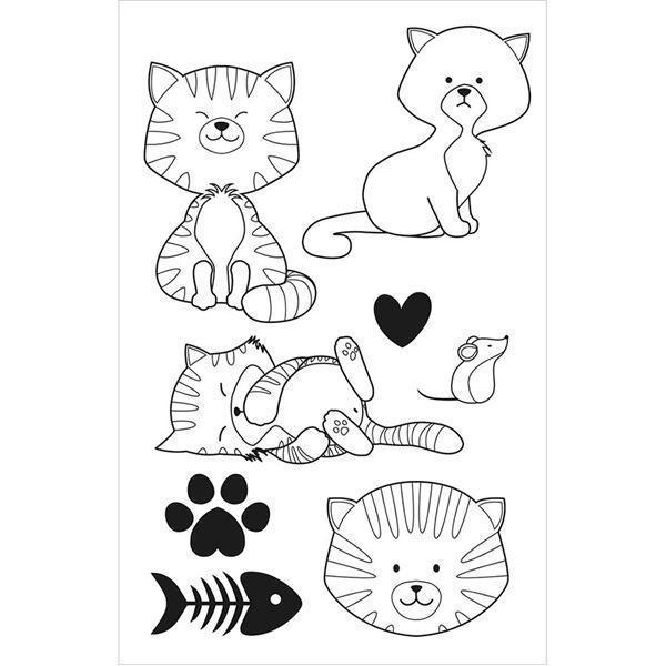 Artemio Clearstamp Set - Family Friends / Cats