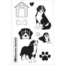 Artemio Clearstamp Set - Family Friends / Bernese Dogs