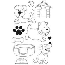 Artemio Clearstamp Set - Family Friends / Dogs