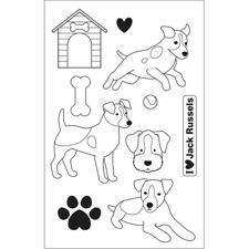 Artemio Clearstamp Set - Family Friends / Jack Russels