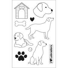 Artemio Clearstamp Set - Family Friends / Labradors