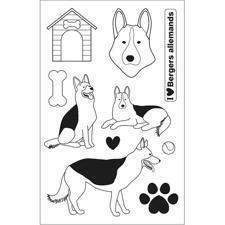 Artemio Clearstamp Set - Family Friends / German Shepherds