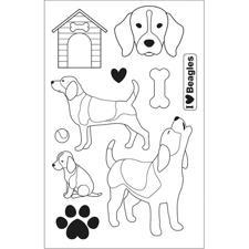 Artemio Clearstamp Set - Family Friends / Beagles