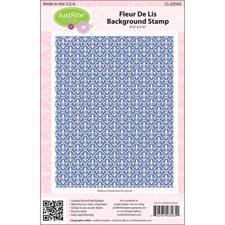 Just Rite Cling Stamp - Background / Fleur de Lis