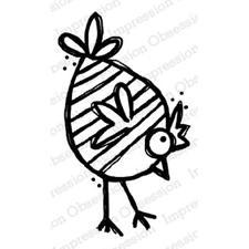 IO Stamps Cling Stamp - Chicken / Greta