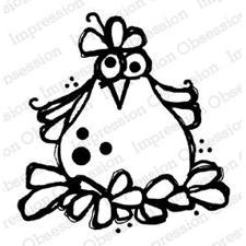 IO Stamps Cling Stamp - Chicken / Ginny