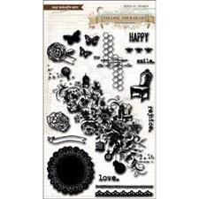 Clear Stamps - Follow Your Heart / Be Happy