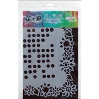 Dylusion Stencil (Mask) - Dotted Flowers
