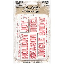 Tim Holtz / Idea-ology - Quote Chips / Christmas