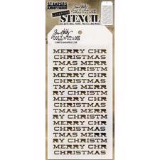 Tim Holtz Layered Stencil - Merry Christmas