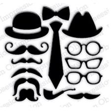 Impression Obsession (IO) Die - Retro Masculine (Glasses & Moustaches)