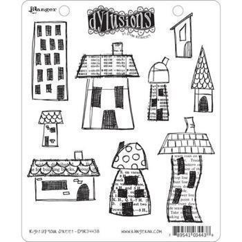 Cling Rubber Stamp Set - Dylusions / Right Up Your Street