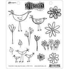 Cling Rubber Stamp Set - Dylusions / How Does Your Garden Grow