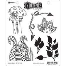 Cling Rubber Stamp Set - Dylusions / Doodle Parts