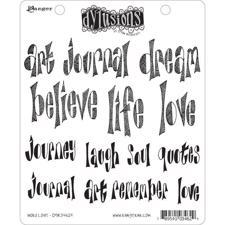Cling Rubber Stamp Set - Dylusions / Word Love
