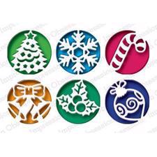 Impression Obsession (IO) Die - Circle Cutout Set / Christmas