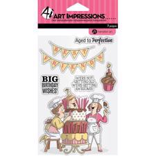 Art Impressions Clear Stamp Set - Big Birthday Wishes