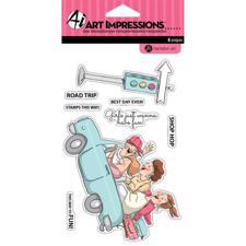 Art Impressions Clear Stamp Set - Road Trip