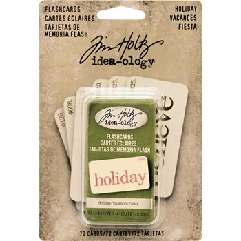 Tim Holtz / Idea-ology - Flash Cards Holiday