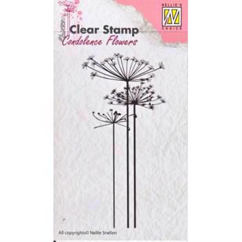 Nellie Snellen Clearstamp - Concolence Flowers 1