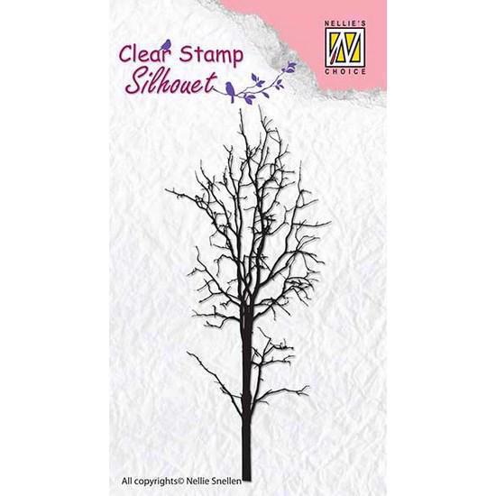 Nellie Snellen Clearstamp - Silhouet / Tree 1 (SIL007)