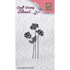 Nellie Snellen Clearstamp - Silhouet / Flower 10